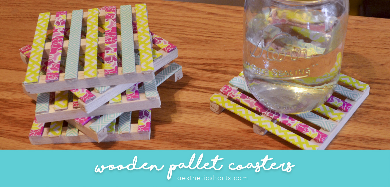 Pallet Coasters from Aesthetic Shorts