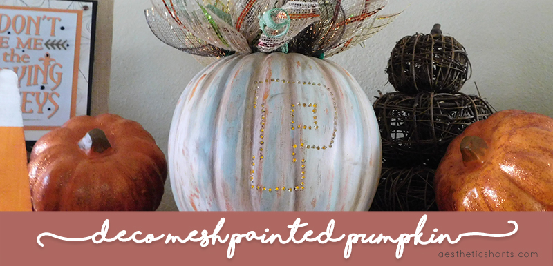 Deco Mesh Painted Pumpkin